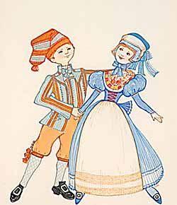 Traditional Costume clipart folk Danish Dress folk 157 Danish