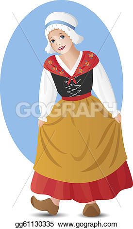 Traditional Costume clipart folk Vector Vector Clipart Art Drawing