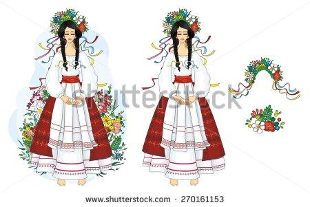 Traditional Costume clipart folk Ukrainian national Ukrainian girl national