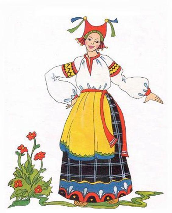 Traditional Costume clipart folk Russian Costume