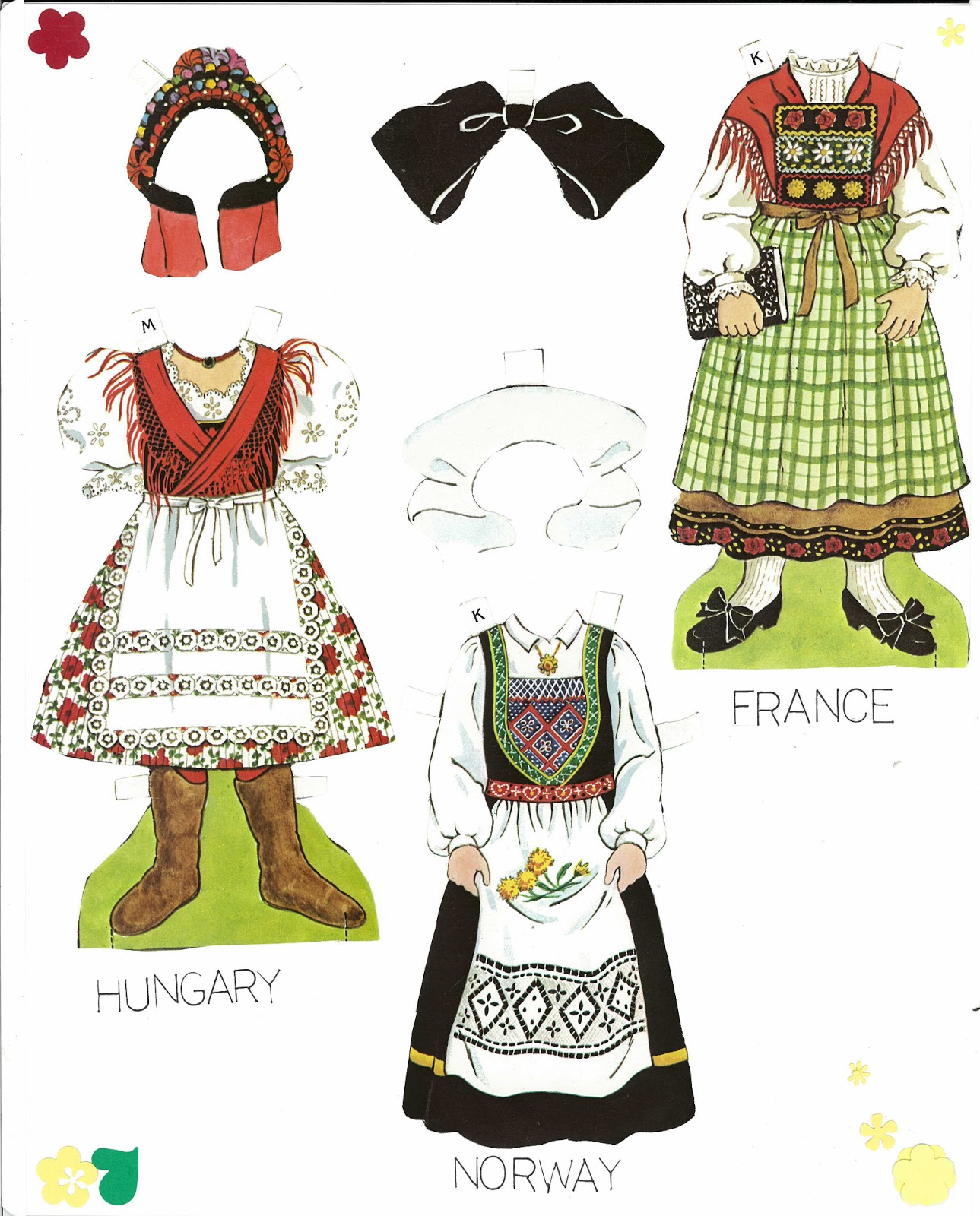 Traditional Costume clipart folk This various traditional set Dolls❤Around