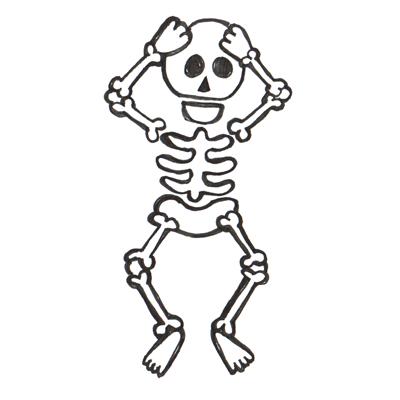 Drawn sleleton funnybones Step Draw Finished Halloween skeletons