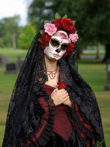 Traditional Costume clipart halloween skull Mask de Etsy: Catrina best