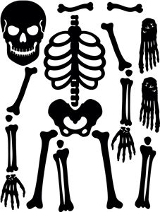 Traditional Costume clipart halloween skull Best Halloween Silhouette on Skeleton