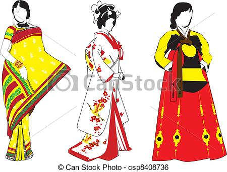 Traditional Costume clipart indian lady Their women Art in in