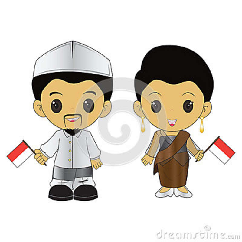 National Dress clipart indonesian #3