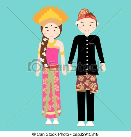 National Dress clipart indonesian #2