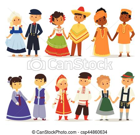 Traditional clipart national costume Girls national world cute