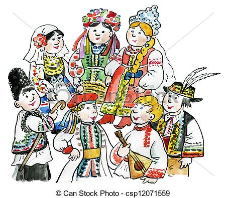 Traditional Costume clipart romanian In Kids  East traditional