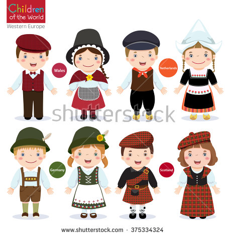 Traditional Costume clipart romanian Serbia) Sweden Latvia Italy Kids