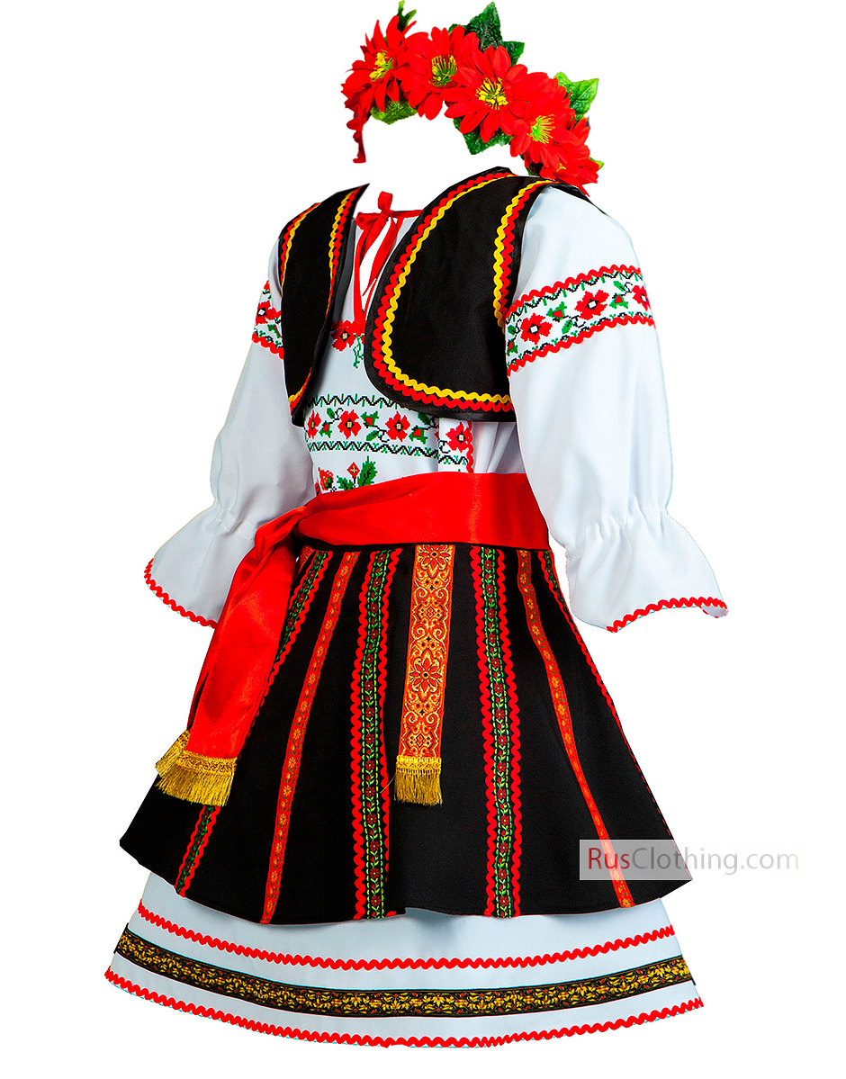Traditional Costume clipart romanian Costume Etsy Romania folk dress