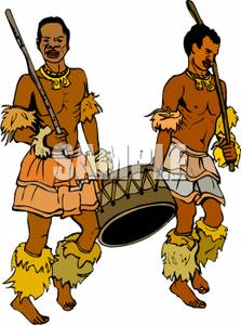 Traditional Costume clipart tribal man Cartoon Carrying a Traditional A