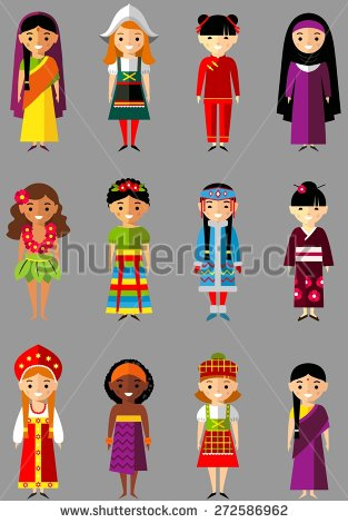 Traditional Costume clipart tribal man National Search of people Vector