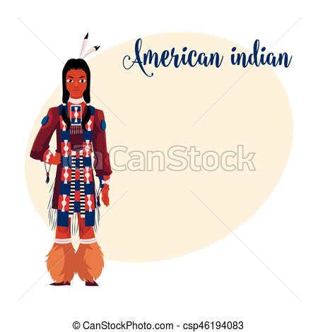 Traditional Costume clipart tribal man In Vector national Native clothes