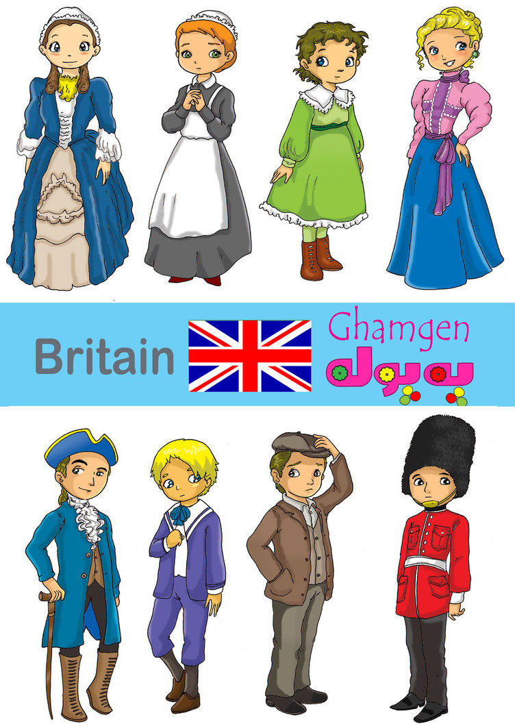 Traditional Costume clipart Clothes by on Britain ghamgen