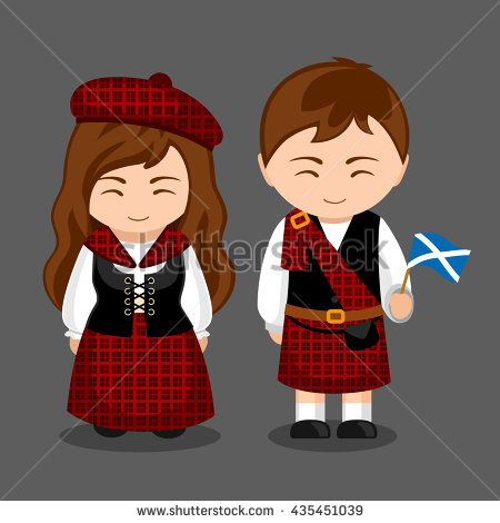 Traditional Costume clipart spanish music Woman ScotlandBritish A clothes