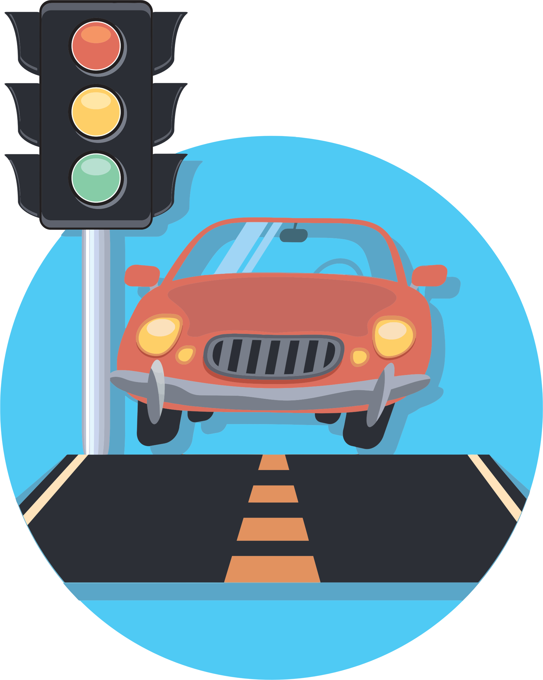 Traffic clipart Car on road Clipart collection