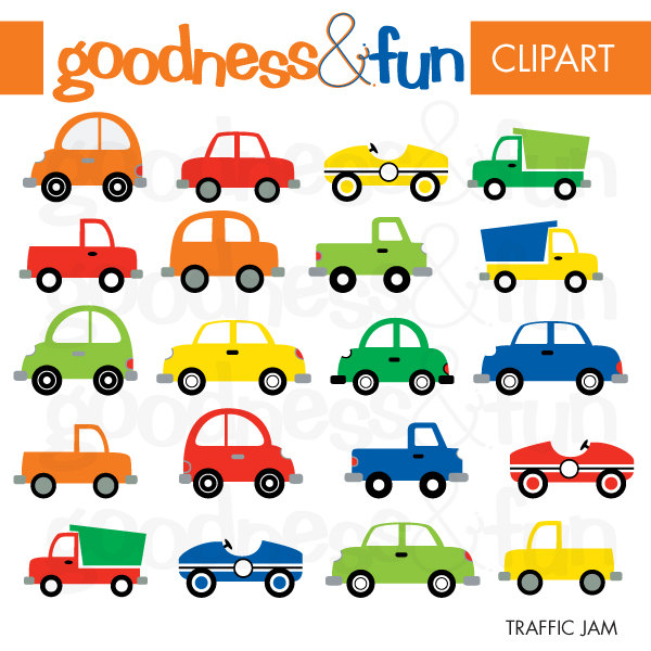 Traffic clipart Transportation Clipart Digital Traffic Cars