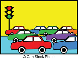 Traffic clipart crowded city Illustrations Traffic  free Clip