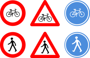 Traffic clipart art Signs Bicycle clip at