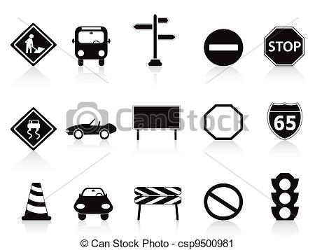 Traffic clipart black and white #15
