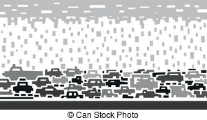 Traffic clipart black and white #14