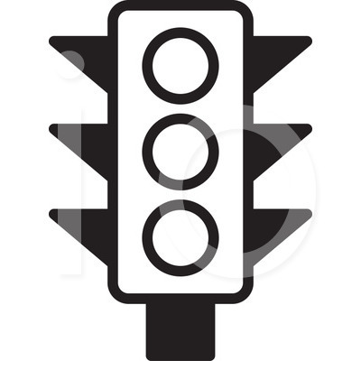 Traffic clipart black and white #9