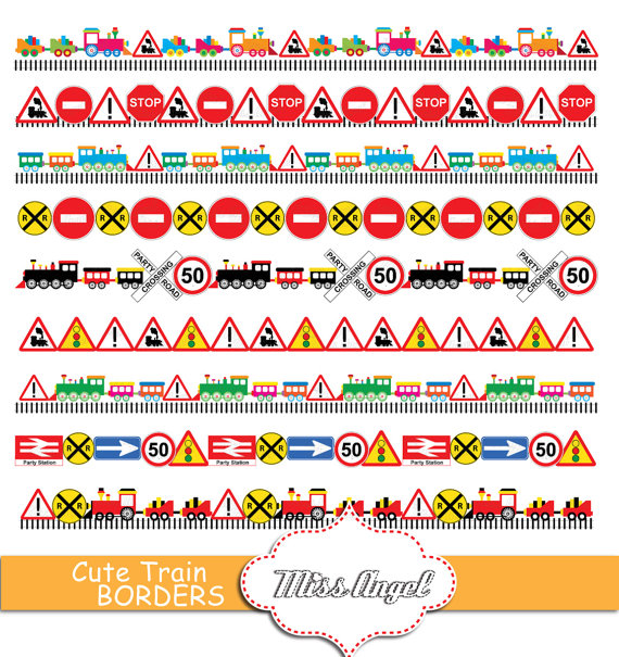 Traffic clipart borders #13