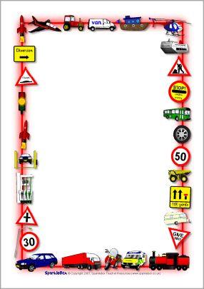 Traffic clipart borders #11