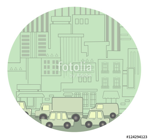 Traffic clipart busy street With traffic Clip a street