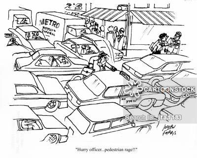 Traffic clipart busy street And Comics CartoonStock Busy Cartoons