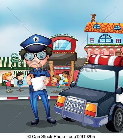 Traffic clipart busy street A policeman Photos street of