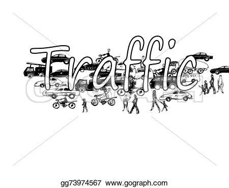Traffic clipart city life Stock Stock  and white