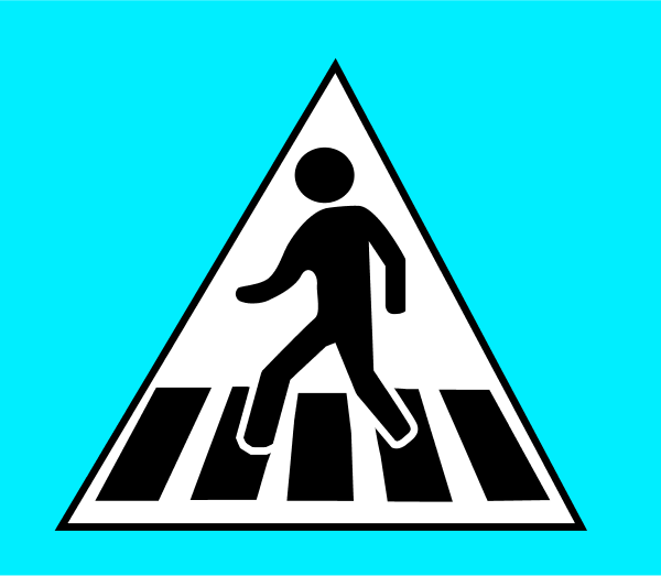 Traffic clipart cross street Sign traffic Time of Clipart