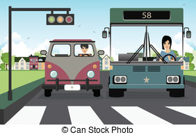 Traffic clipart crosswalk Stock pedestrians  a of