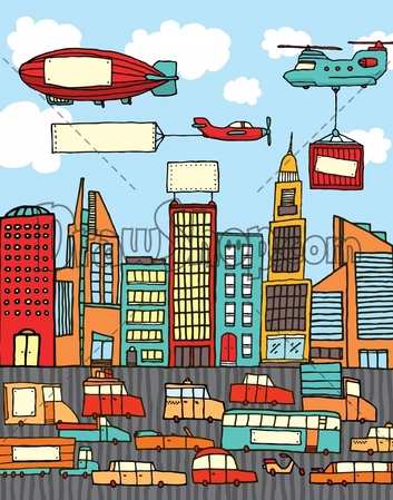 Traffic clipart crowded city Stock Crowded Crowded Roofs House