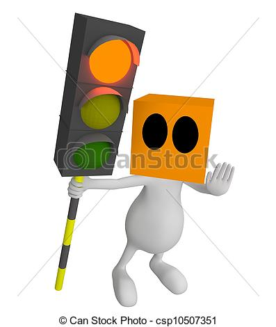 Traffic clipart cute Cute people light  traffic
