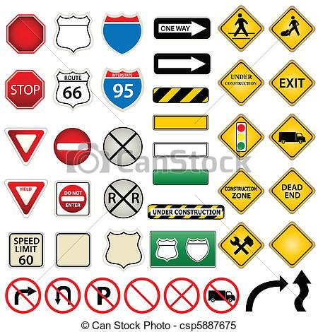 Traffic clipart drawing Signs Road Various Vector traffic