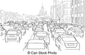 Traffic clipart drawing Roads Traffic for Art on