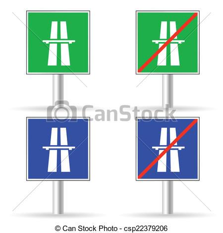 Traffic clipart freeway Vector freeway sign traffic Clipart