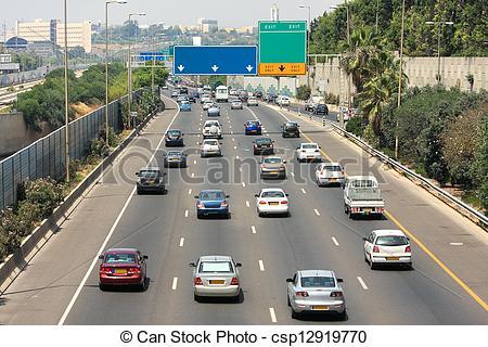 Traffic clipart freeway Picture Aviv Tel traffic of