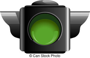 Traffic clipart green light Green collection clipart Vector Royalty