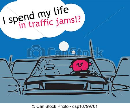 Traffic clipart illustration  traffic jam! csp10799701 Clipart