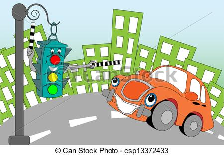 Traffic clipart illustration Cheerful Cheerful traffic Vectors