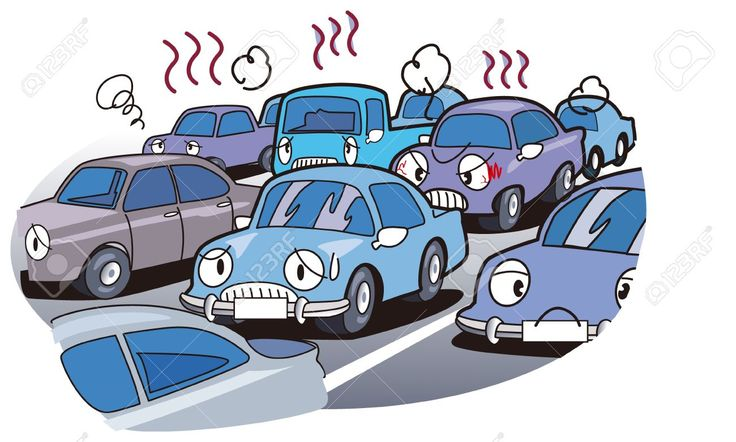 Traffic clipart jammed On StUcK by TrAFFiC iN