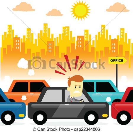 Traffic clipart jammed Clipart Vector stuck Traffic Angry