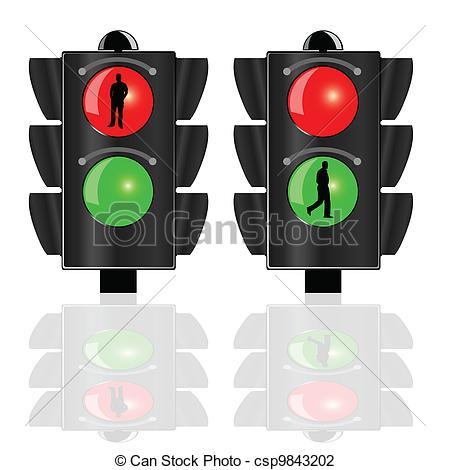 Traffic clipart ligh Pedestrians pedestrians  illustration traffic