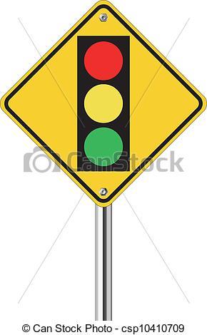 Traffic clipart ligt Light over sign over traffic