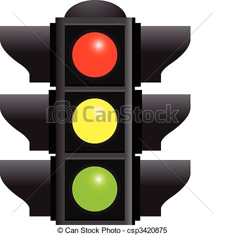Traffic clipart ligth Background traffic Vector  lights