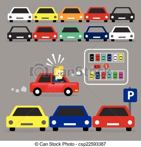 Traffic clipart parking space For Parking csp22593387 his man